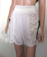 Ivory Silk and Lace French Knickers